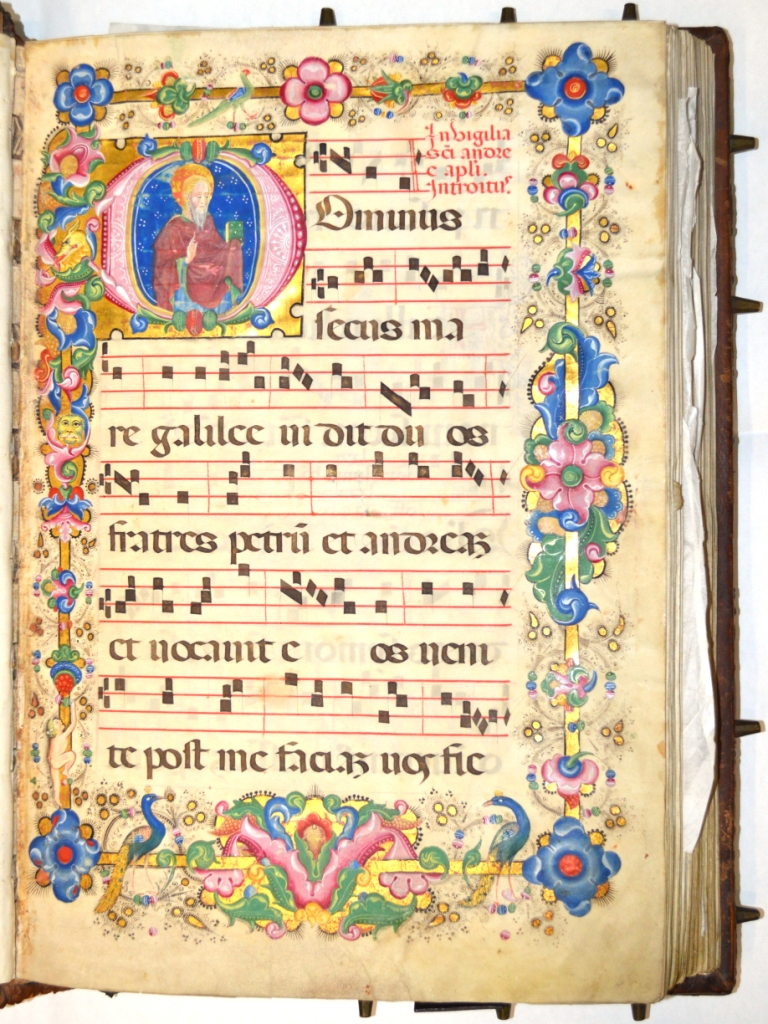 Graduale Ms. in pergamena, sec. XV, carta [1]1r
